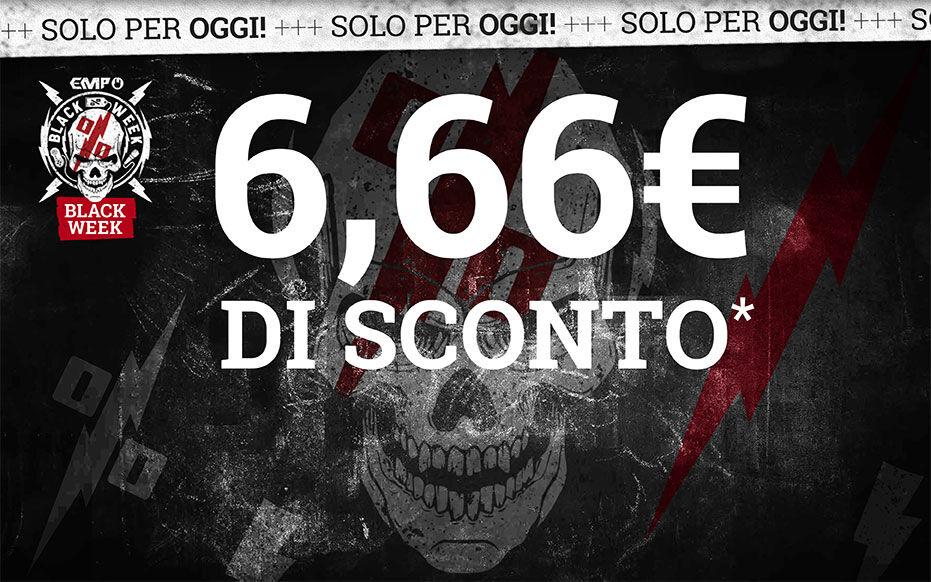 6,66€ DI SCONTO