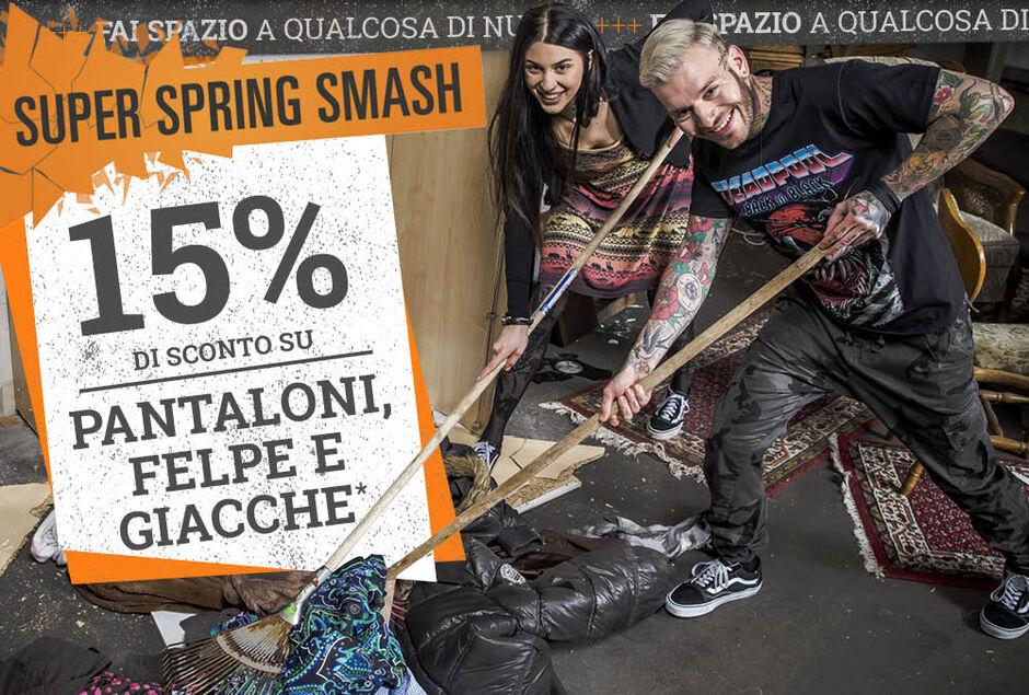 15% di sconto su PANTALONI, FELPE E GIACCHE