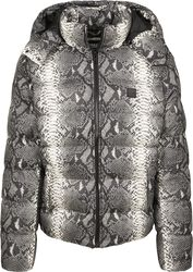 Hooded Snake Puffer Jacket