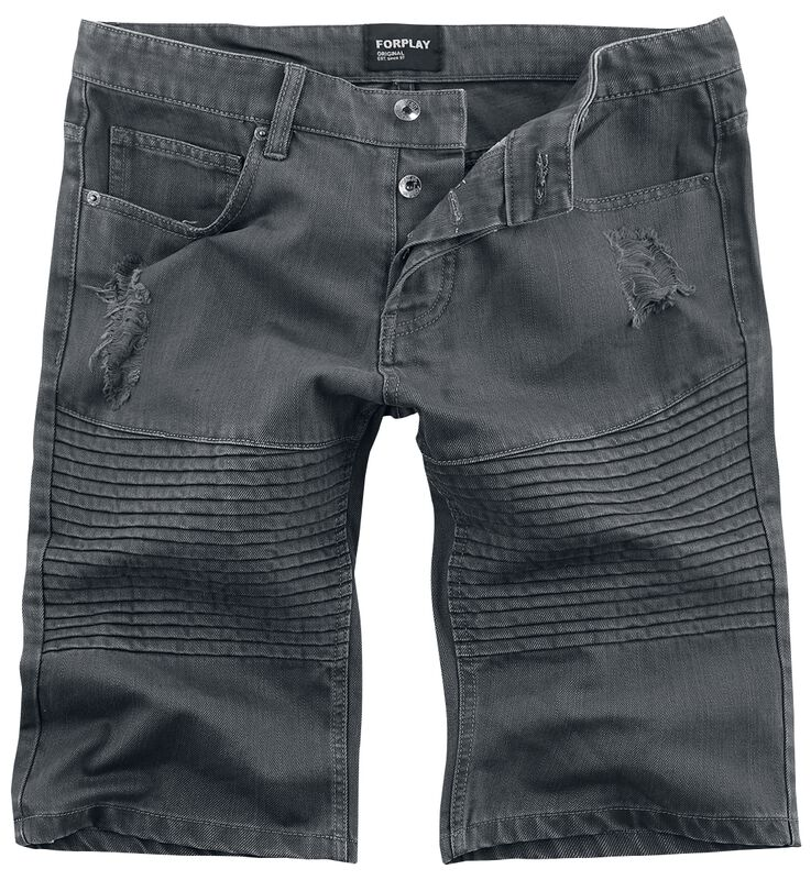 Destroyed Biker Short