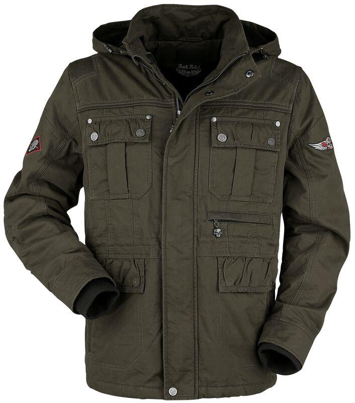 Green Between-Seasons Jacket with Removable Hood