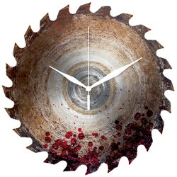 Glass Wall Clock Blade with Blood