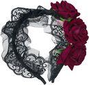 Crimson Roses Headband