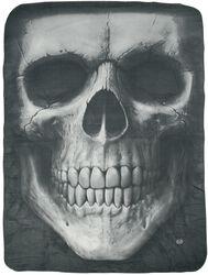Solemn Skull Fleece Blanket