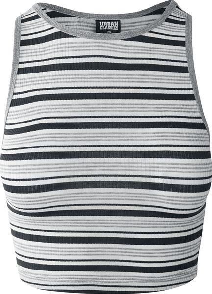 Top Top Stripe Rib Cropped Ladies Aqnz8Xa