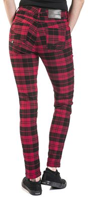 Skarlett - red/black checked trousers