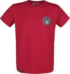 Red T-Shirt with Crew Neckline