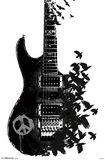 Crow Guitar Peace Sign