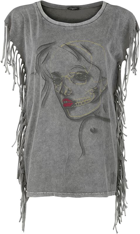 Fringed Woman's Face Shirt