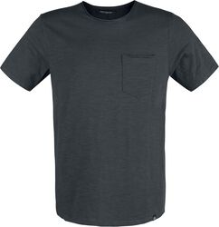 Raw Edge Slub Tee Dusty Black
