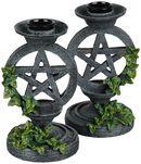 Aged Pentagram Candlesticks