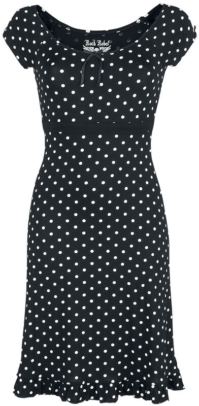 Rock Rebel Rockabilly Dress with Spots