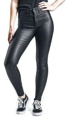Callie High Waist Skinny Coated Trousers