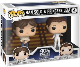 Empire Strikes Back 40th Anniversary - Han Solo & Princess Leia (2 Figures) Vinyl Figure