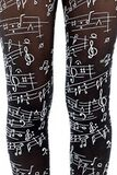 Flocked Musical Notes Tights