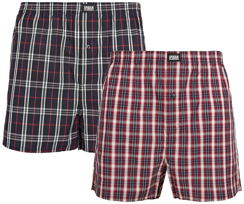 Woven Plaid Boxer Short Double Pack