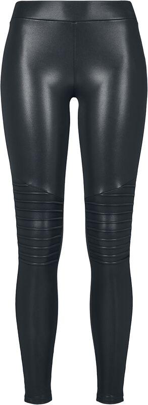 Ladies Faux Leather Biker Leggings