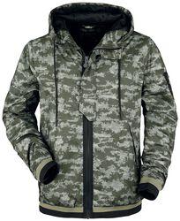 camouflage jacket with hood