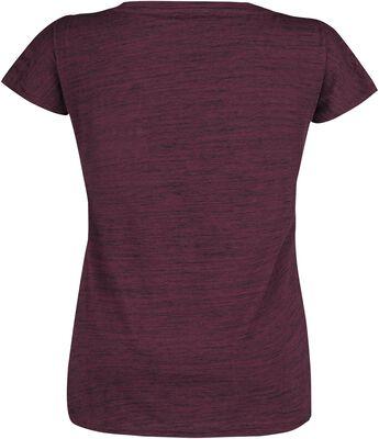 Purple T-shirt in melange-look