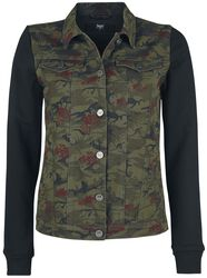 Camouflage Jacket with Sweat Sleeves