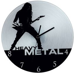 Glass Wall Clock Heavy Metal