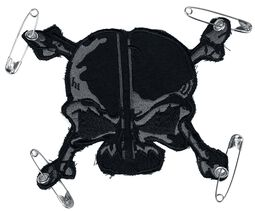 Patch: Grey-Black Skull