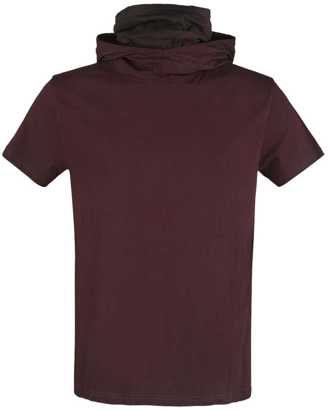 T-shirt with hood and multifunctional Turtleneck