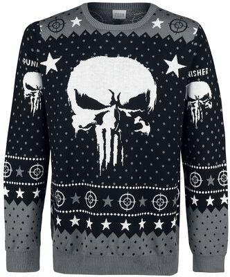 Skull Logo | The Punisher Christmas jumper | EMP