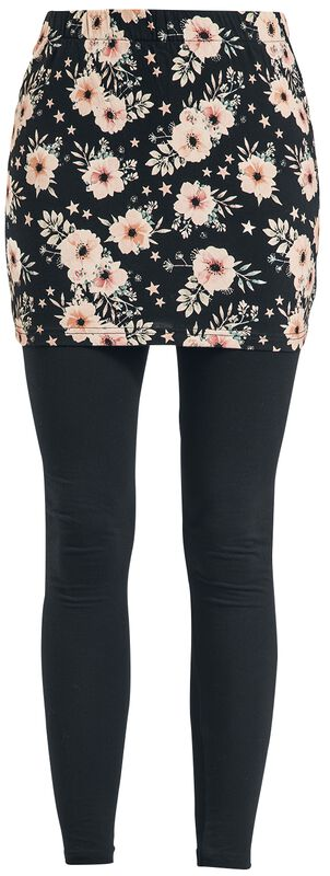 2-in-1 Leggings and Skirt with Floral Pattern