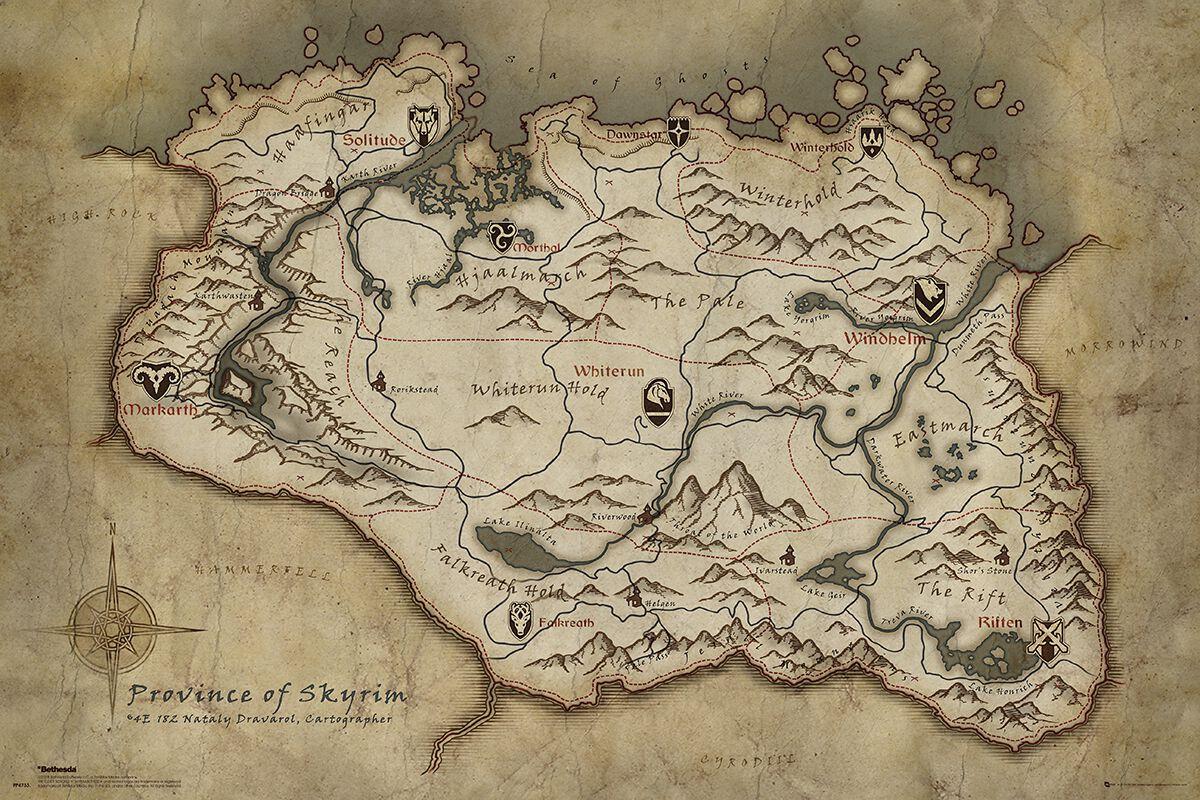 Skyrim Map  a598f01e230f