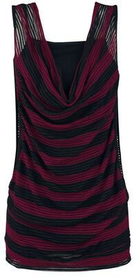 2 in 1 Double Layer Stripe Mesh Top