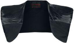 Shoulder Bolero With Imitation Leather Applications