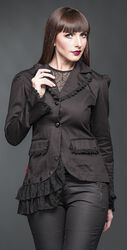 Asymmetric Jacket with Lace
