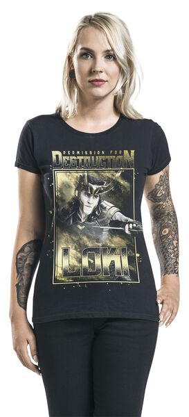 For Permisson Shirt T Loki Destruction PYxSaqR
