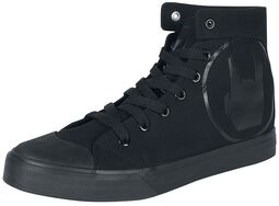 Black Sneakers with Rockhand Print