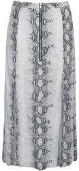 Snake Skin Skirt With Slits