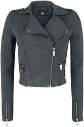 Grey biker jacket