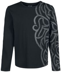 Long-sleeve Shirt with Large Ornamentation