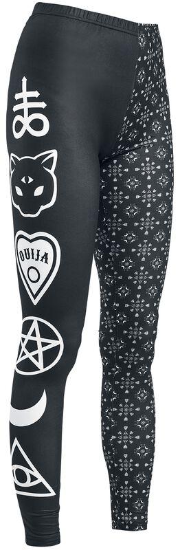 Black Leggings with Symbols