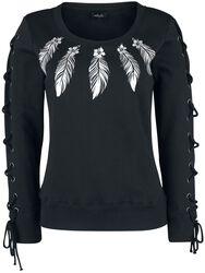 Sweatshirt wtih Print and Lacing