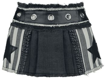 Ultra mini pleated skirt with stars