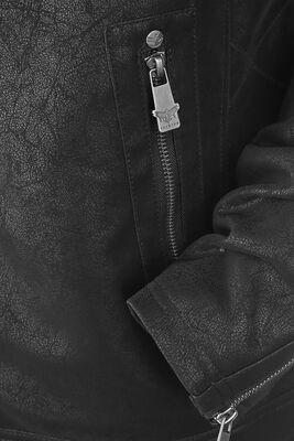 Black faux leather jacket