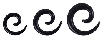 Dilating Spiral - Black