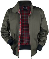 Khaki Between-Seasons Jacket with Standing Collar