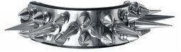 Leather Bracelet with Silver Killer Studs