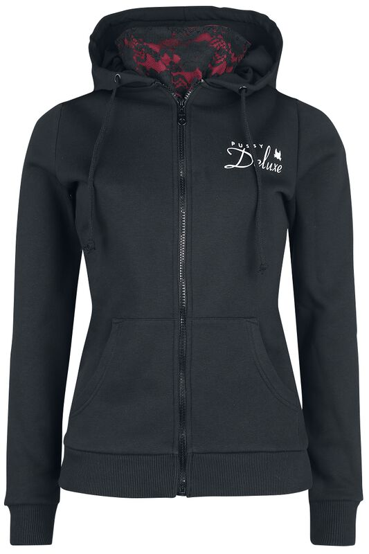 Stay Safe Lace Mask Hooded Zip-Jacket