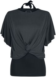 T-shirt with halterneck top
