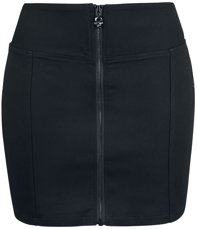 Black Mini Skirt with Front Zip