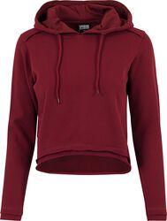 Ladies Cropped Terry Hoodie