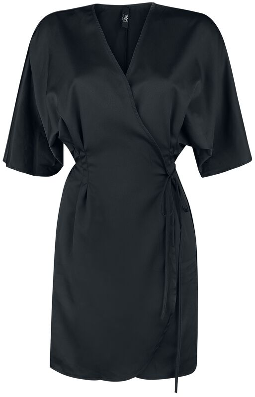 Black Premium Black Wrap Dress